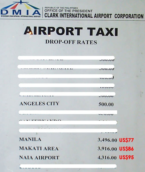 CLARK INTERNATIONAL AIRPORT Taxi and AirTaxi Service Pre